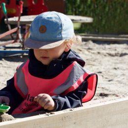 Sandkiste für Kids